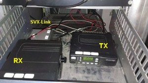Hier ein Blick in die Schublade mit RX und TX